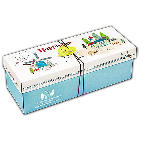 彌月蛋糕盒 - 上下蓋 - 瑞士捲英格利