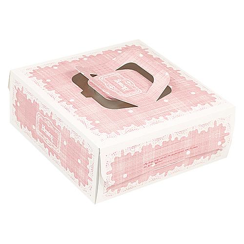 手提派盒 - 8吋 - 雅妮絲(粉)