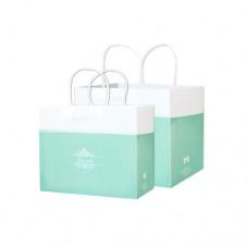 開窗西點盒/平放袋/喬安娜(綠)(400個)-停產