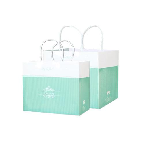 開窗西點盒/平放袋/喬安娜(綠)