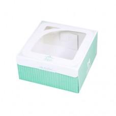 開窗西點盒/166x166/喬安娜(綠)(400個)-停產