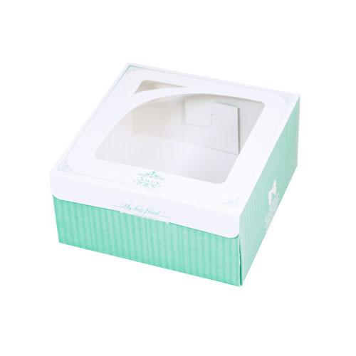 開窗西點盒/166x166/喬安娜(綠)