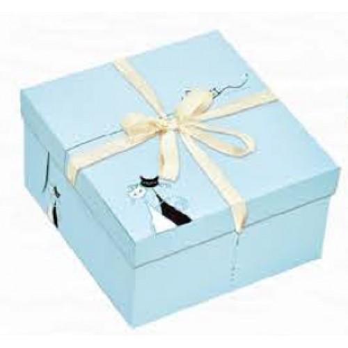 精緻蛋糕盒/8吋/凱蒂思(藍)