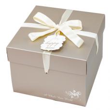 8吋西點雙層禮盒(200個)/8吋/ 奧德莉(金)