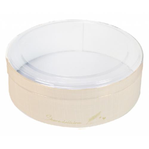 5吋乳酪盒/5吋/小香風-香檳黃/透明蓋