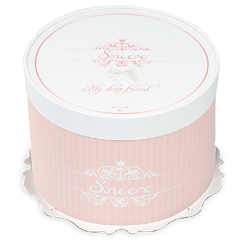 圓形蛋糕盒/8吋/喬安娜(粉)