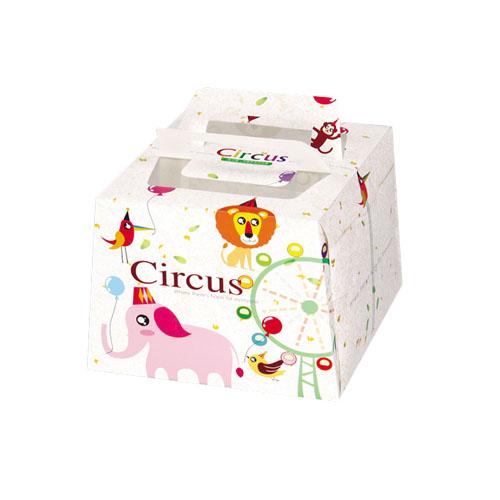 4吋迷你蛋糕盒- 6吋盒 - 馬戲團