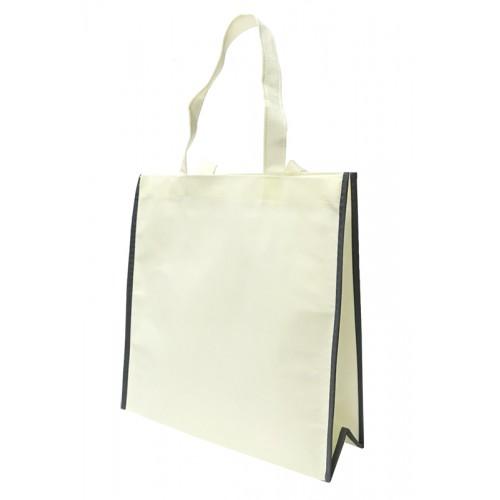 包邊不織布手提袋單面印刷(杏色)