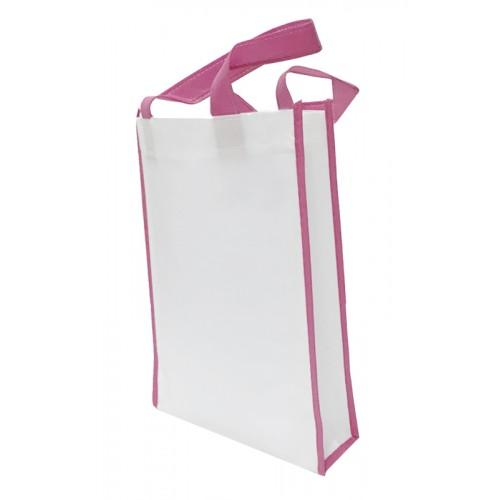包邊不織布手提袋雙面印刷(白色)