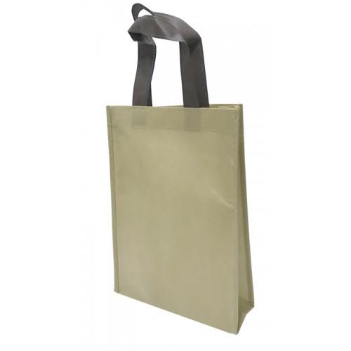 包邊不織布手提袋單面印刷(咖啡色)