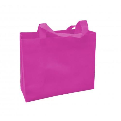 橫式不織布環保袋(梅紅色)