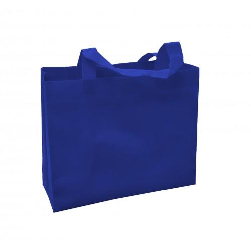 橫式不織布環保袋(寶藍色)