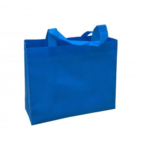 橫式不織布環保袋(水藍色)