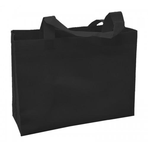 橫式不織布環保袋(黑色)