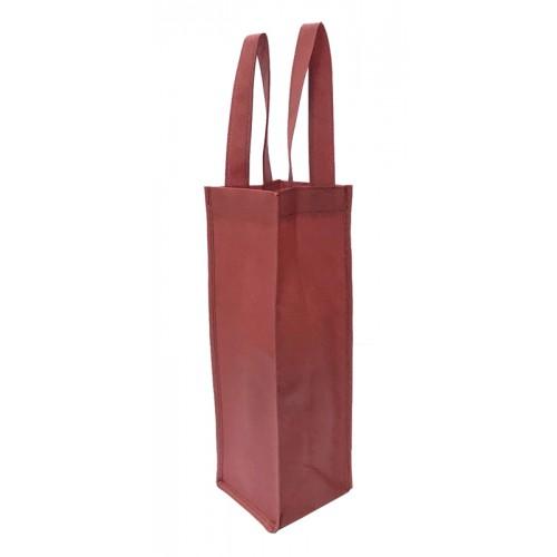 長條不織布手提袋雙面印刷(酒紅色)