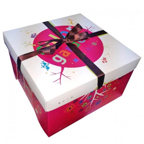 精緻蛋糕盒/8吋/繽紛公園(桃紅)