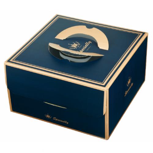 手提蛋糕盒/10吋/法蘭斯(深藍)