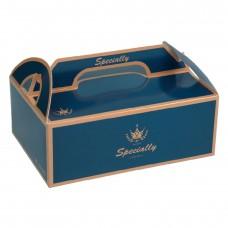 手提餐盒 - 4吋 - 法蘭斯(深藍)(600個)